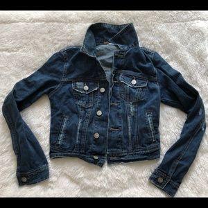 Free People Dark Wash Denim Jacket